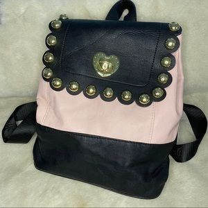 BETSEY Faux Leather Backpack Heart